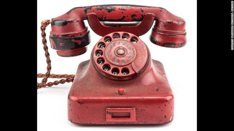 Adolf Hitlers personal traveling phone was sold at auction on Sunday for 243000