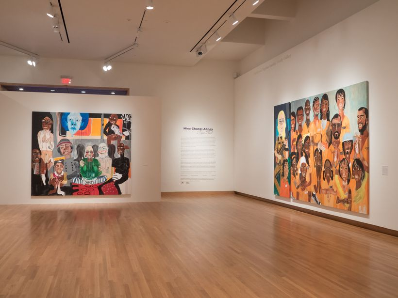 "The first gallery of ""Royal Flush"" with some of Nina Chanel Abney's earlier paintings"