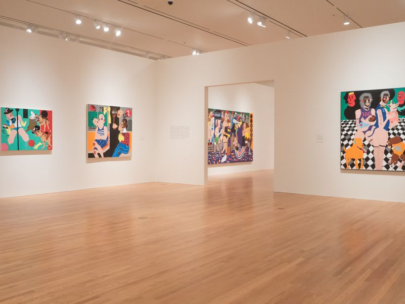 Paintings from a phase in Abney's career where the backgrounds became more abstract