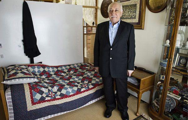 Gulen in his room in 2014.