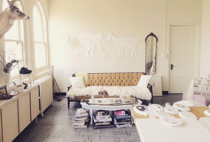 Jamison's studio