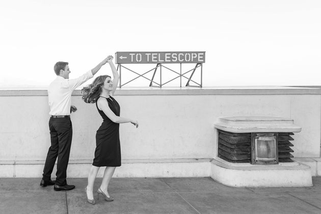 These 'La La Land' Engagement Pics Capture That Old Hollywood