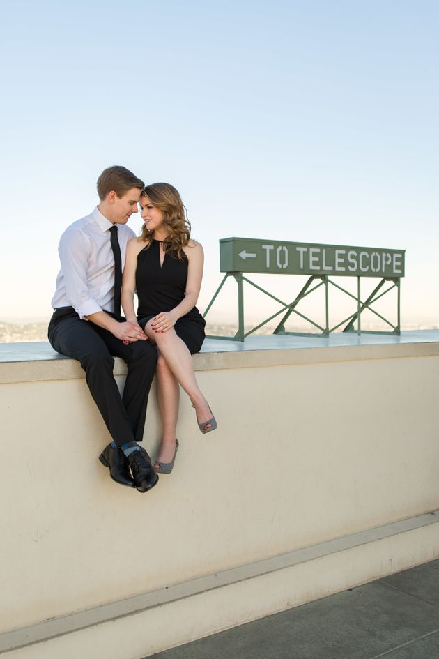 The couple took their daytime photos at the Griffith Observatory in Los Angeles, a location that also...