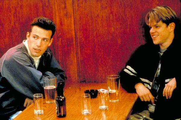A-list bromance: Ben Affleck and Matt Damon in <em>Good Will Hunting</em>