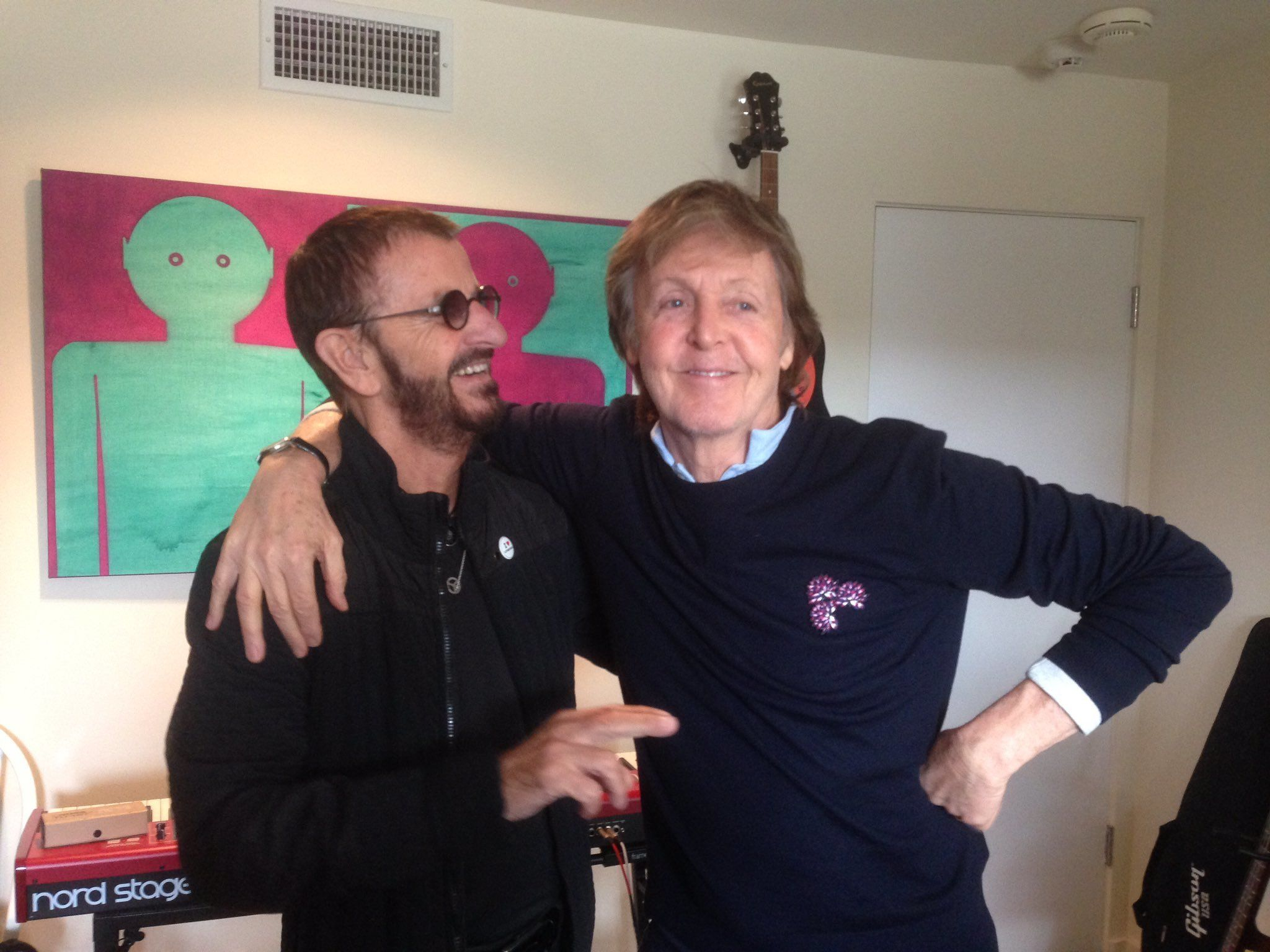 Surviving Beatles Paul McCartney And Ringo Starr Reunite For Recording