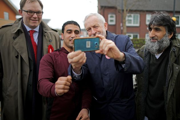 Jeremy Corbyn campaigning in with Stoke Central Labour candidate Gareth
