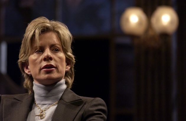 Patricia Cornwell speaking at the Gielgud