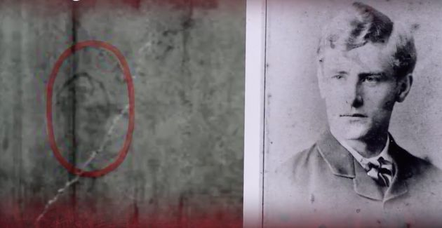 An image of Sickert as a 24-year-old (right) could have been caricatured in a Ripper letter (left), claims