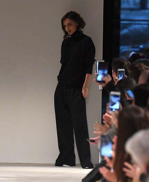 Victoria Beckhamafter her runway show at