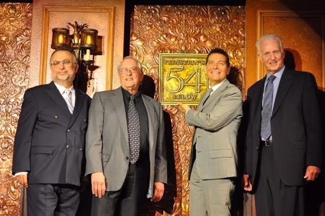 left - right: Richard Frankel, Steve Baruch, Michael Feinstein, Tom Viertel