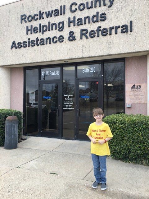 Kaden started donating to alocal food pantry when he was 4 years old.