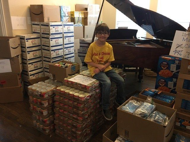 """As of February 19th, the total tally was in excess of 10,300 items, approximately 12,360 pounds."" said his mom."