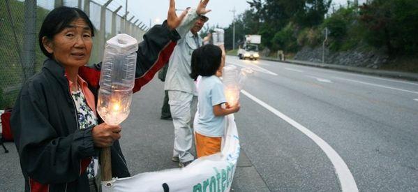 Elderly Women On Okinawa Unite Against Plans To Move U.S. Military Base