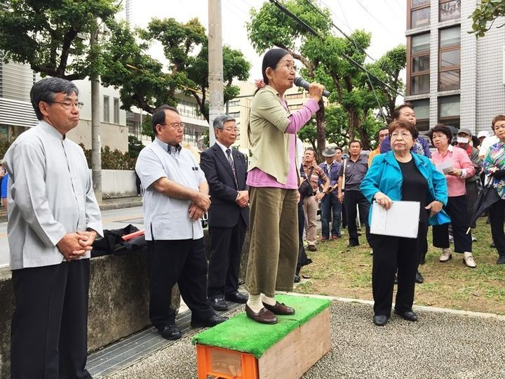 """Writer Etsuko Urashima, 68, has become one of the faces of the protest movement. """"If we had not been doing these protes"""
