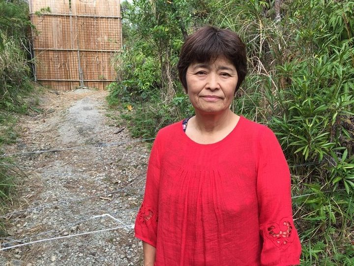 City councilwoman Kumiko Onaga, 60, slept in a tent across from a U.S. military base for an entire year to protest the constr