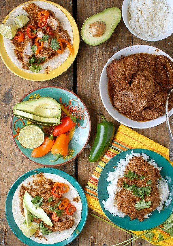 "<strong>Get the <a href=""http://boulderlocavore.com/easy-slow-cooker-mole-chicken-thighs/"" target=""_blank"">Easy Slow Cooker M"