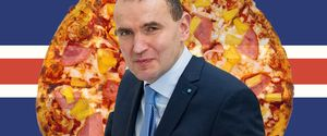 ICELAND PRESIDENT PINEAPPLE PIZZA