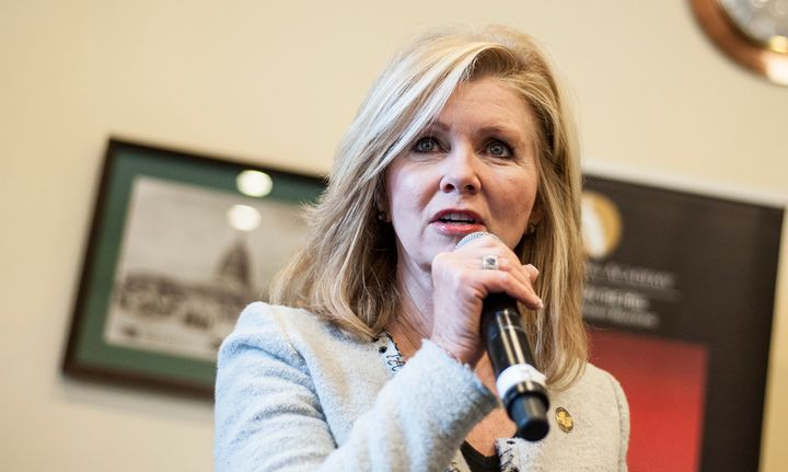 Rep. Marsha Blackburn (R-Tenn.), shown here at a 2013 event in Washington, D.C., found a chilly reception back home.