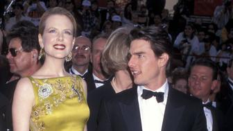 Actress Nicole Kidman and actor Tom Cruise attend the 69th Annual Academy Awards on March 24, 1997 at Shrine Auditorium in Los Angeles, California. (Photo by Ron Galella, Ltd./WireImage)