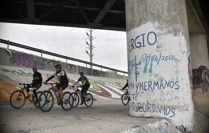 Picture of the place where in 2010 Mexican 15-year-old Sergio Hernandez was killed by a U.S. border patrol agenton the