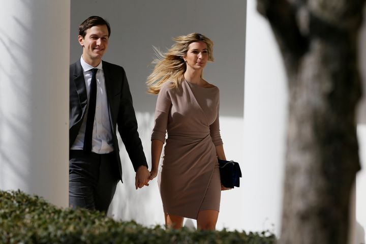 President Donald Trump's senior adviser, Jared Kushner, and Trump's eldest daughter, Ivanka Trump, at the White House on Feb.