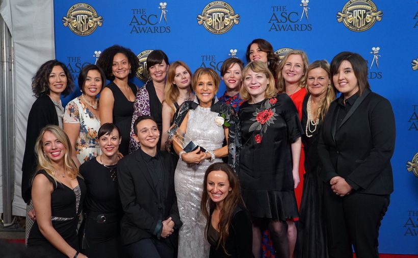Back Row (L to R): Quyen Tran, Sandra Valde-Hansen, Kira Kelly, Alison Kelly, Elle Schneider, Nancy Schreiber, ASC, Autumn Ea