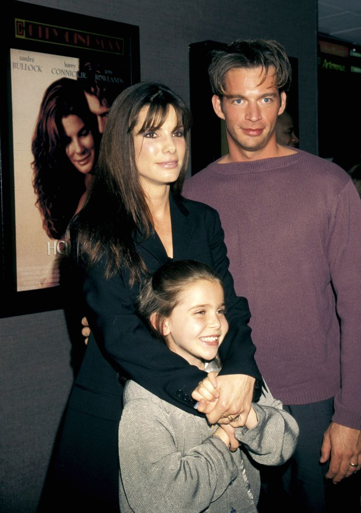 "Sandra Bullock, Harry Connick Jr. and Mae Whitman at the New York premiere of 1998's ""Hope Floats."""