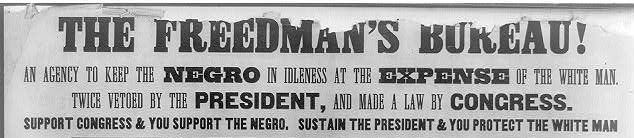 Part of the racist posters attacking Radical Republicans on the issue of  Black suffrage, issued during the Pennsylvania gube