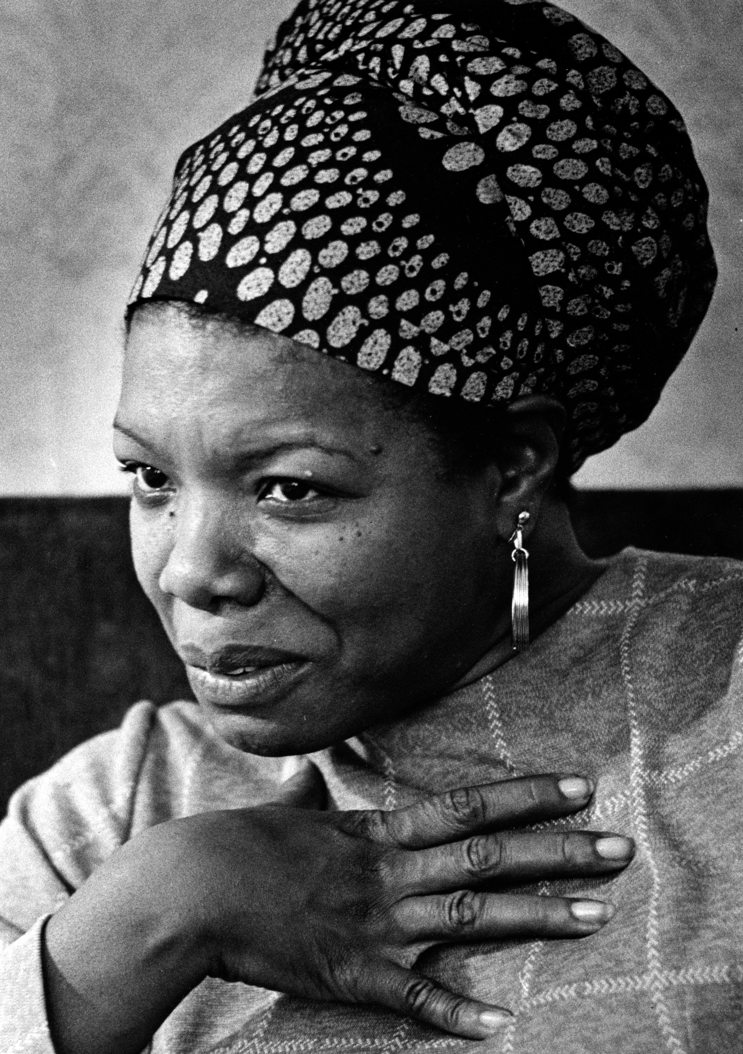 WASHINGTON, DC - JUNE 3: FILE: Maya Angelou poses for a portrait during an interview in Washington, D.C. on June 3, 1974. (Photo by Craig Herndon / The Washington Post via Getty Images)