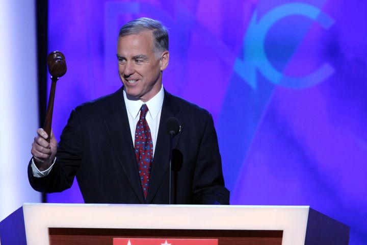 Howard Dean calls to order the 2008 Democratic National Convention in Denver, Colorado. He was elected DNC chair in 2005 afte