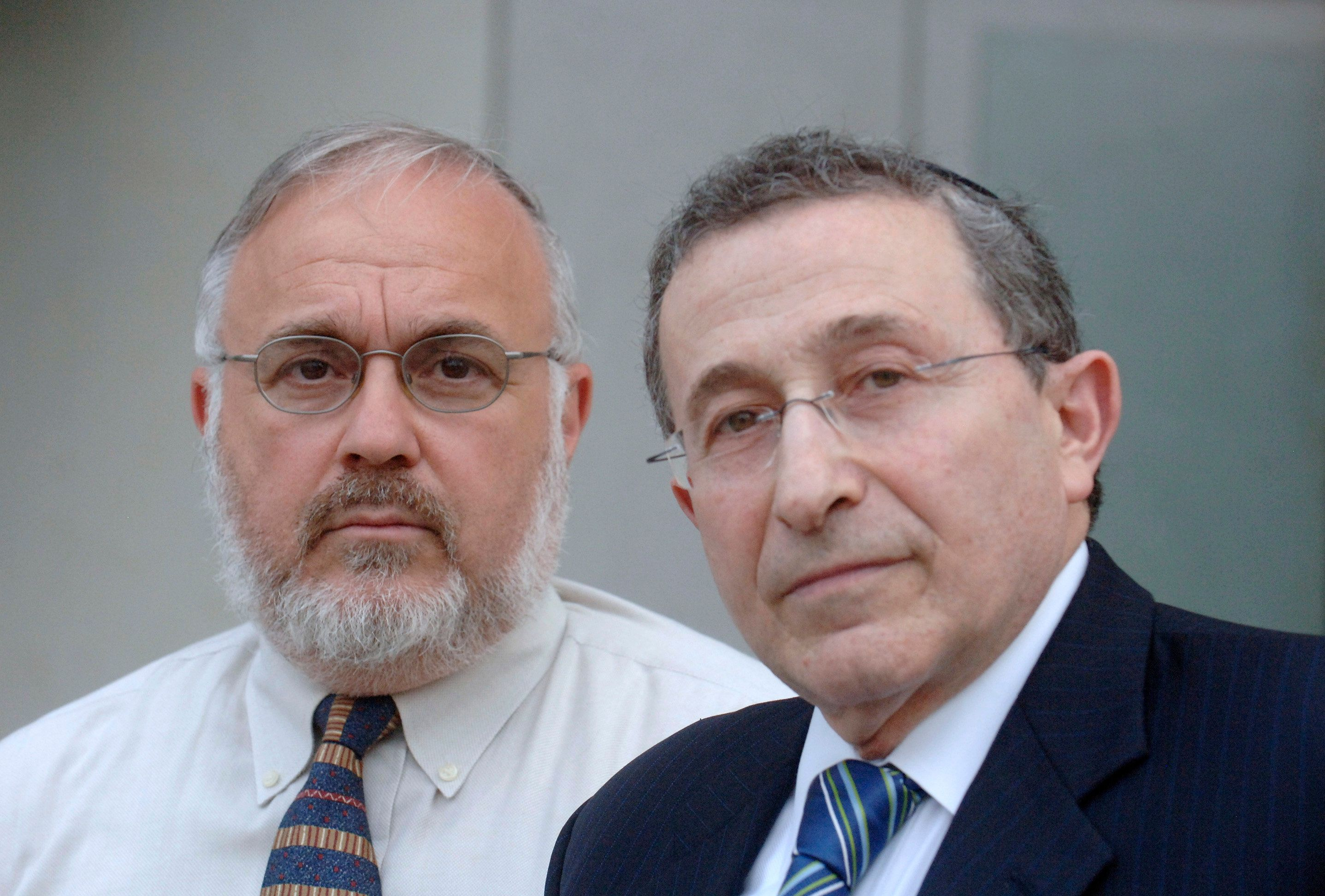 Rabbi Abraham Cooper (left) and Rabbi Marvin Hier of the Simon Wiesenthal Center wrote to Attorney General Jeff Sessions seek