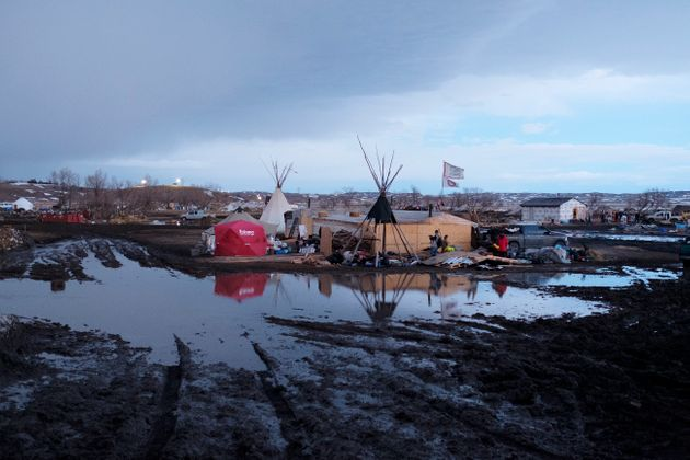 Some protesters are unhappy to leave the Oceti Sakowin camp and believe the claims about flooding have...