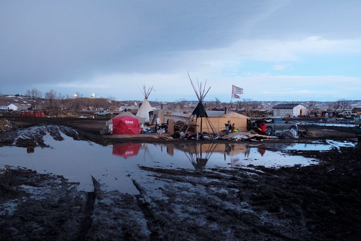 Some protesters are unhappy to leave the Oceti Sakowin camp and believe the claims about flooding have been overstated.