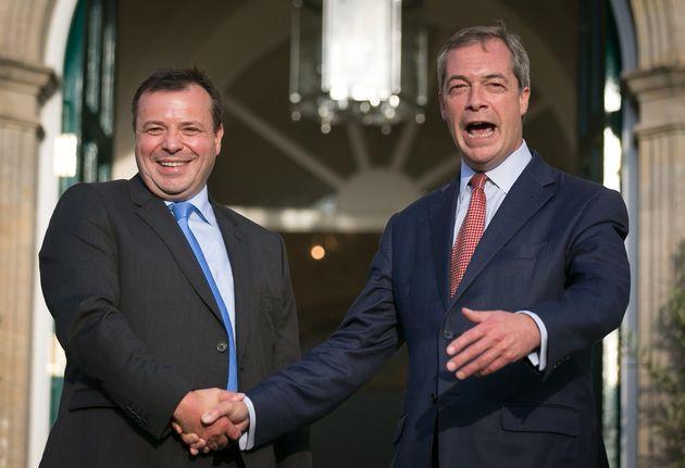 Arron Banks with former Ukip leader Nigel