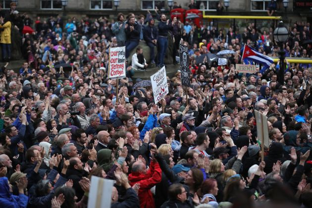 A huge Corbyn rally in Liverpool in August