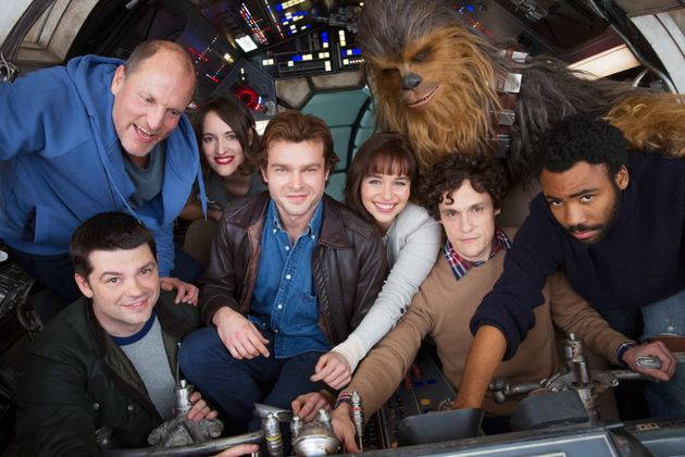 Alden Ehrenreich (centre) is playing Han Solo in the spin-off