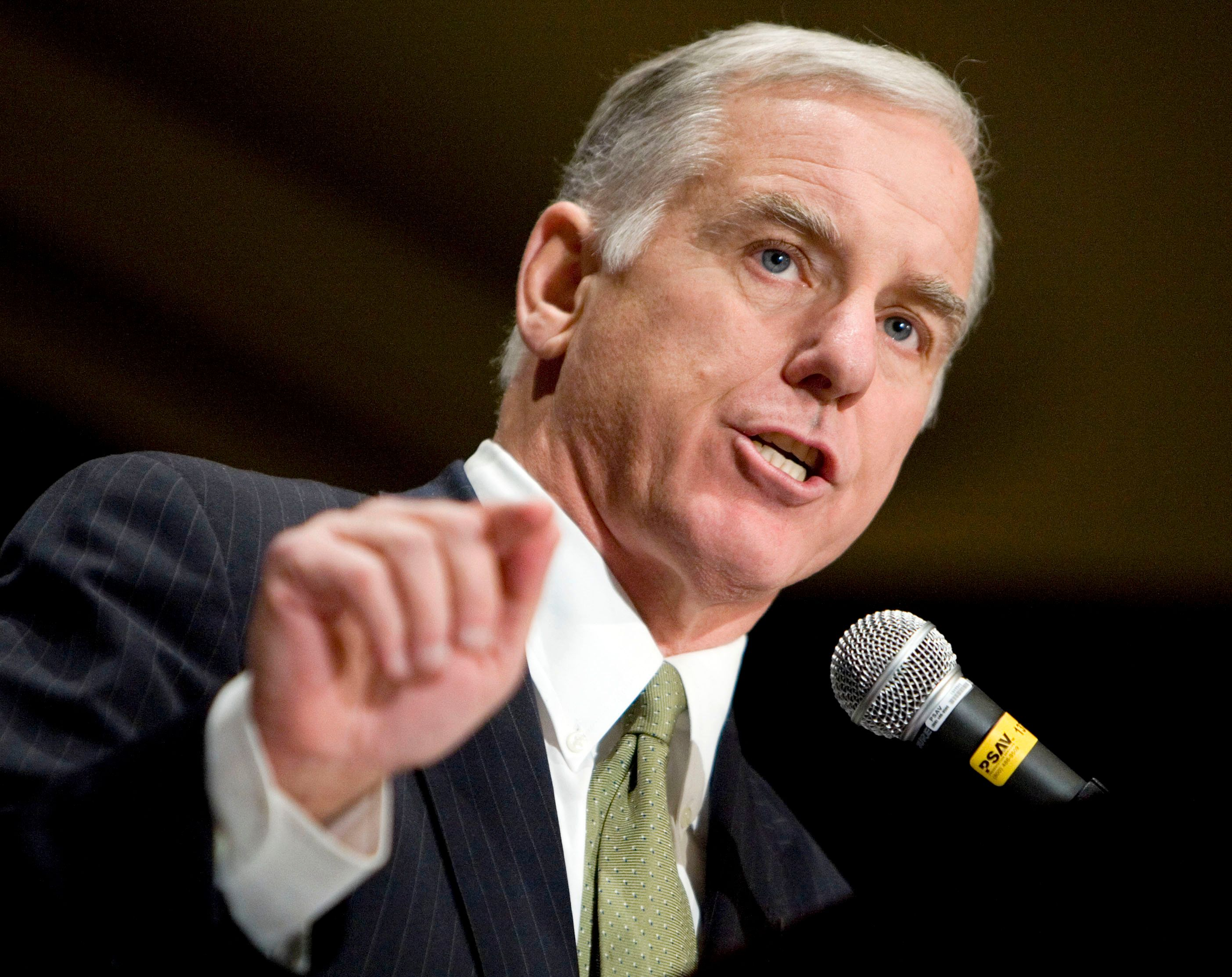 Democratic National Committee Chairman Howard Dean speaks at the Democratic National Committee annual fall meeting in Vienna, Virginia, November 30, 2007.     REUTERS/Joshua Roberts     (UNITED STATES)