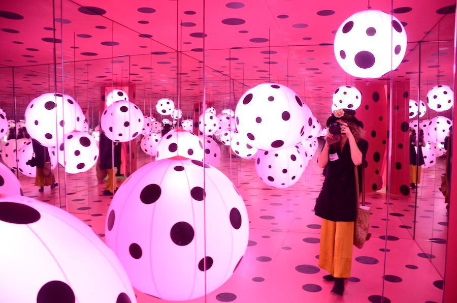 "Yayoi Kusama, ""Dots Obsession — Love Transformed into Dots,"" 2007, as installed in 2017."