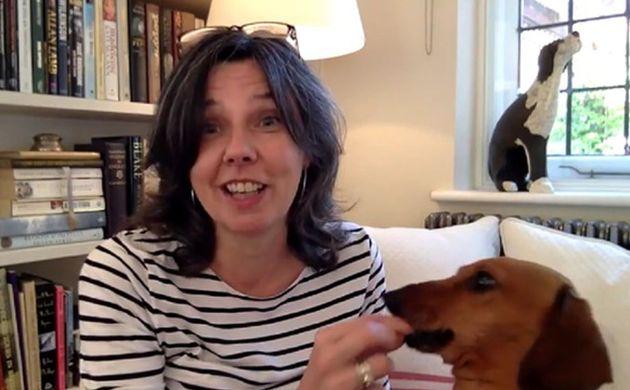 Helen Bailey with her dachshund Boris, which Stewart also