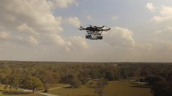 UPS on Tuesday released video of it delivering a package by drone