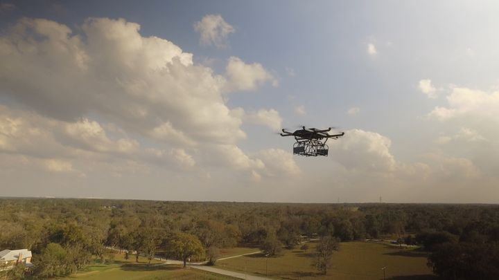 UPS on Tuesday released video of it delivering a package by drone.
