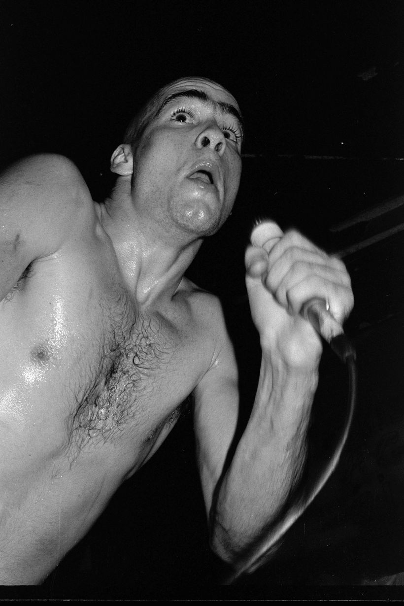 Henry Rollins of Black Flag at the Cuckoo's Nest, Costa Mesa, August 1981