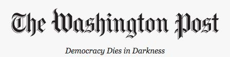 The new slogan on The Washington Post's website.