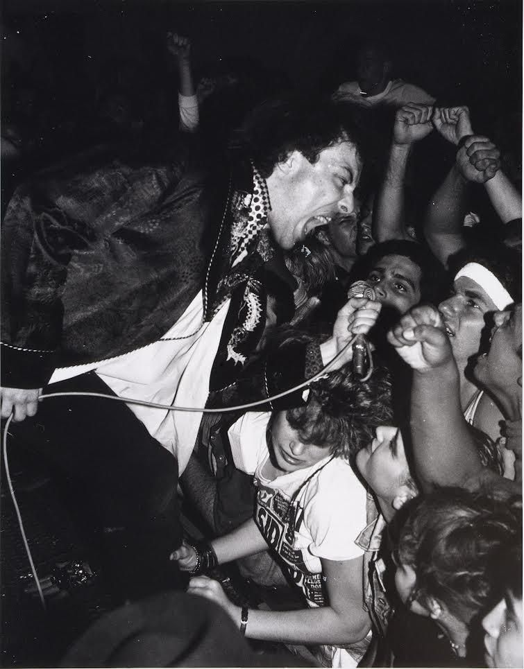 Jello Biafra of Dead Kennedys at Balboa Theatre, Los Angeles, November 1985