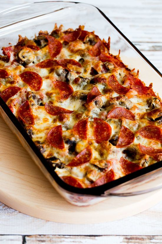 "<strong>Get the <a href=""http://www.kalynskitchen.com/2016/01/low-carb-deconstructed-pizza-casserole.html"" target=""_blank"">De"