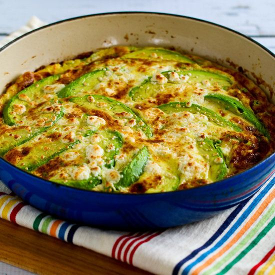 "<strong>Get the <a href=""http://www.kalynskitchen.com/2015/03/avocado-frittata-with-cotija-mozzarella.html"" target=""_blank"">A"