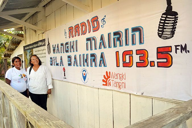 The MADRE and Wangki Tangni Radio station where programming on violence against women and women's rights is produced for the