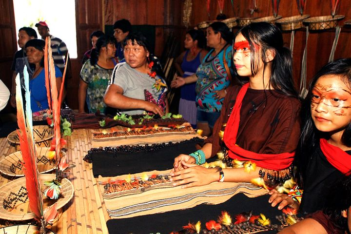 <p>Indigenous women like the young Ashaninka pictured here are combining traditional skills with modern entrepreneurship to assert their economic independence.</p>