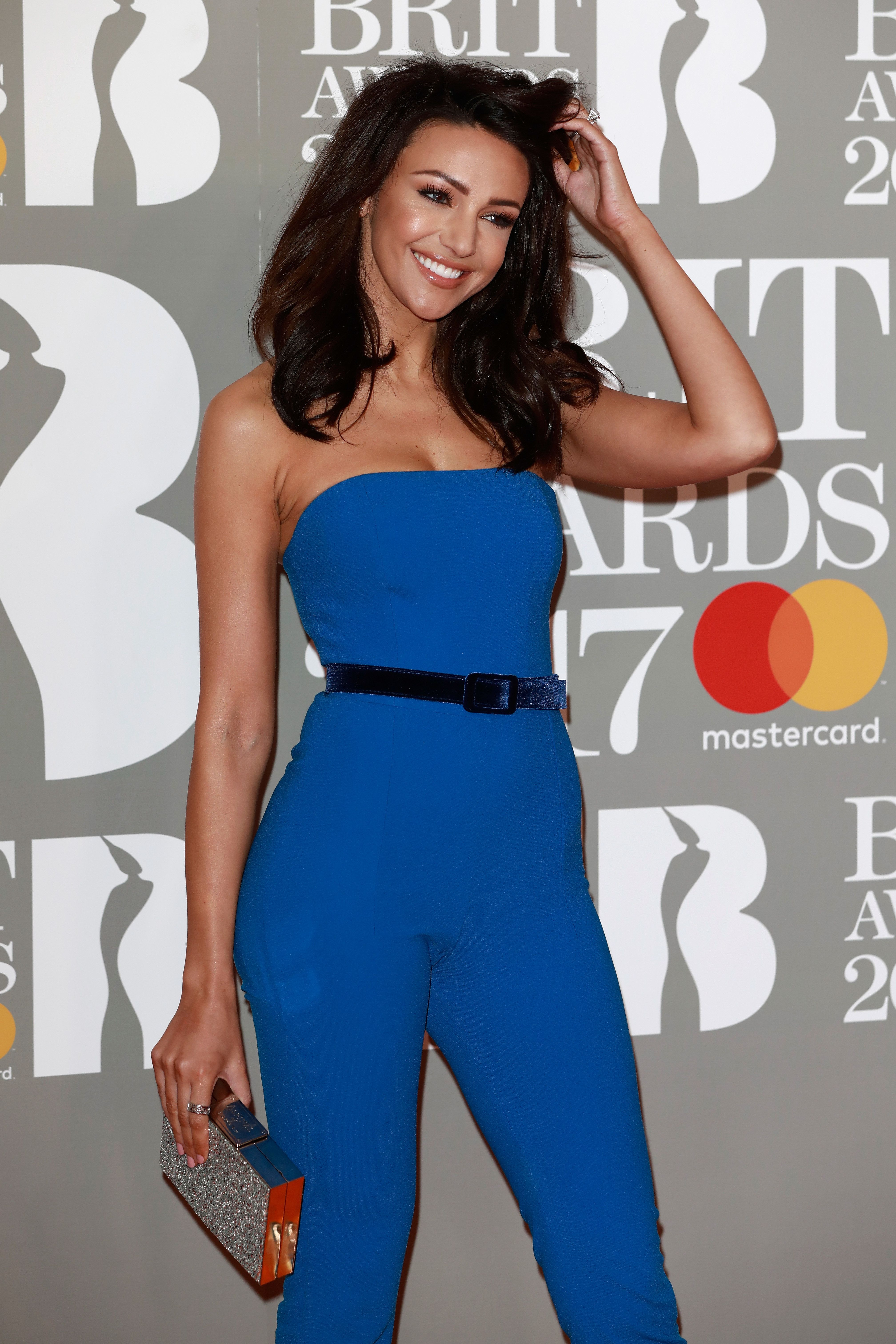 Michelle Keegan Channelled Sandy From 'Grease' In Skin-Tight Catsuit At The Brit