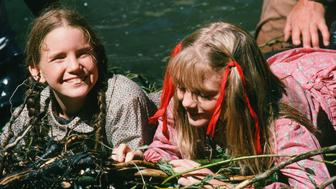 LITTLE HOUSE ON THE PRAIRIE -- 'The Campout' Episode 9 -- Aired 11/19/1975 -- Pictured: (l-r) Melissa Gilbert as Laura Elizabeth Ingalls Wilder, Alison Arngrim as Nellie Oleson -- Photo by: NBCU Photo Bank